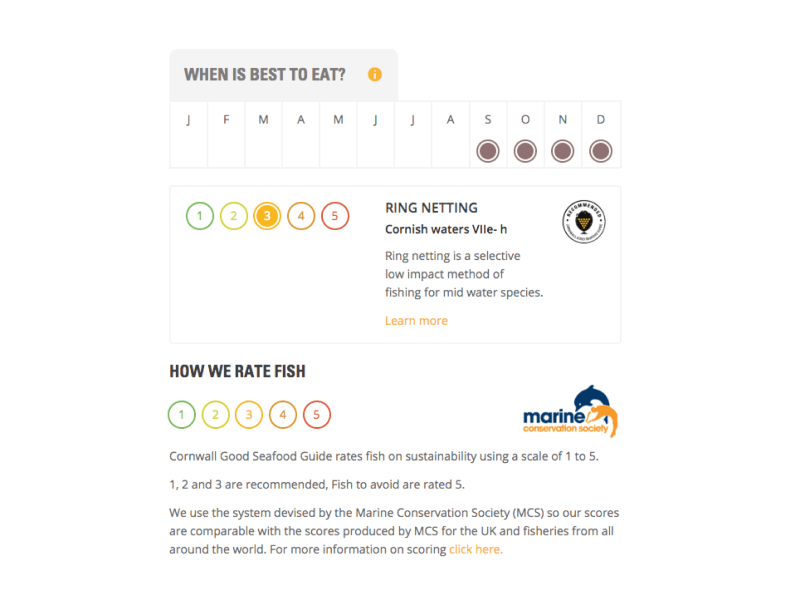 cornwall good seafood guide fish rating interface
