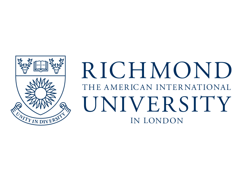 Richmond University logo in blue on white