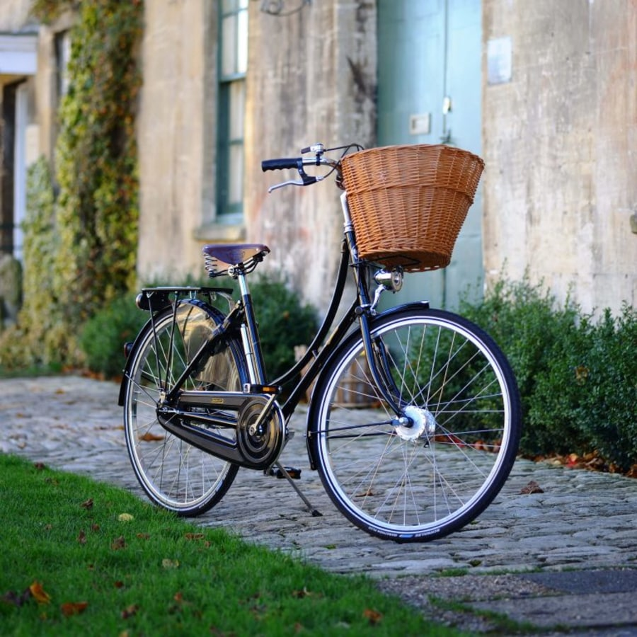 Pashley classic bicycle outside a house in a British village