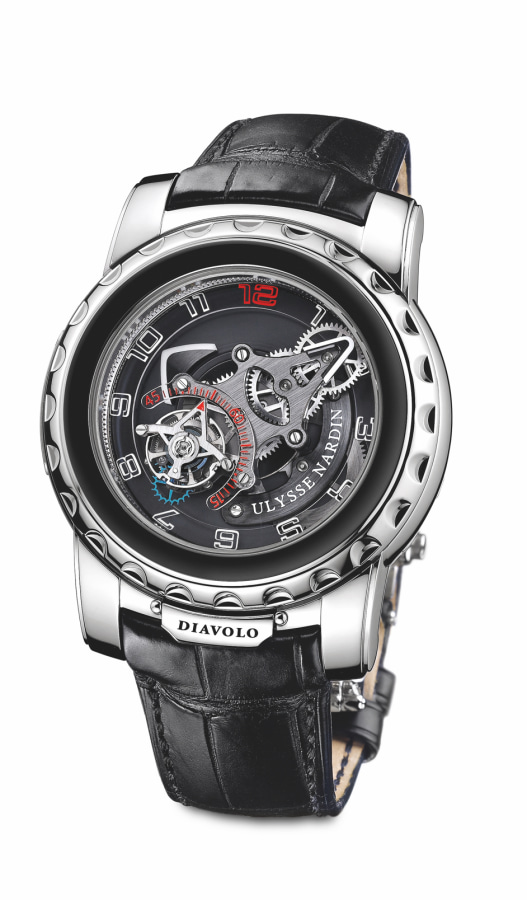 A premium Ulysse Nardin Diavolo watch in silver