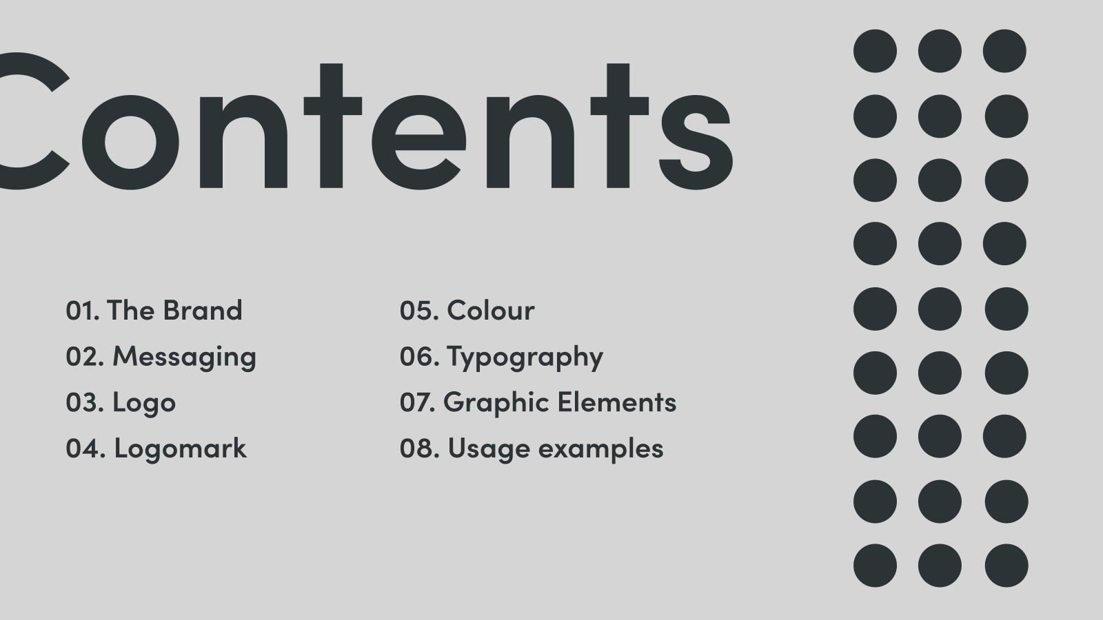 Inspire Makers Brand guidelines - contents