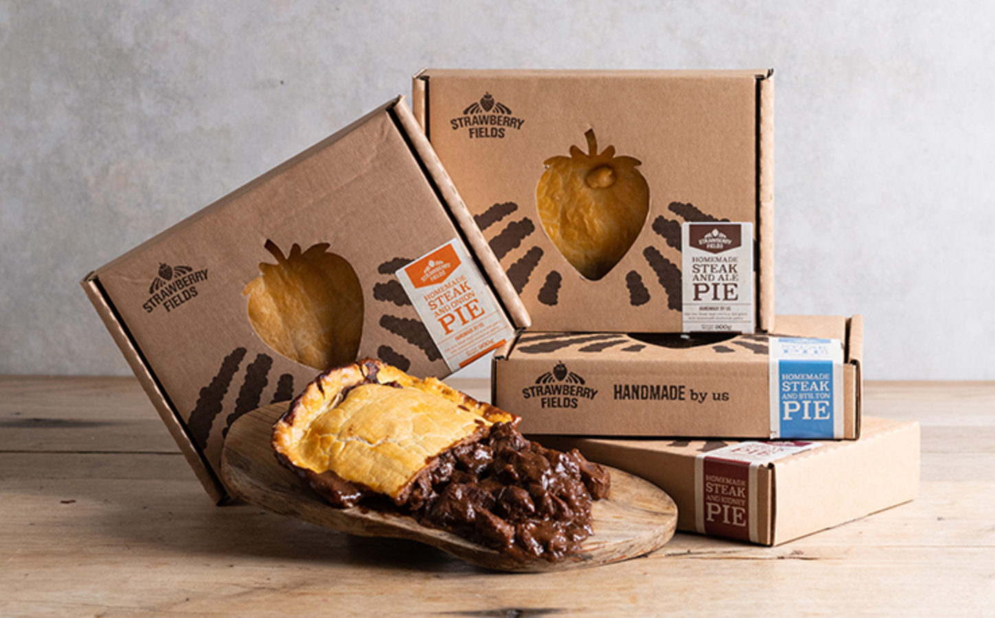 Box of Steak and Ale Pies