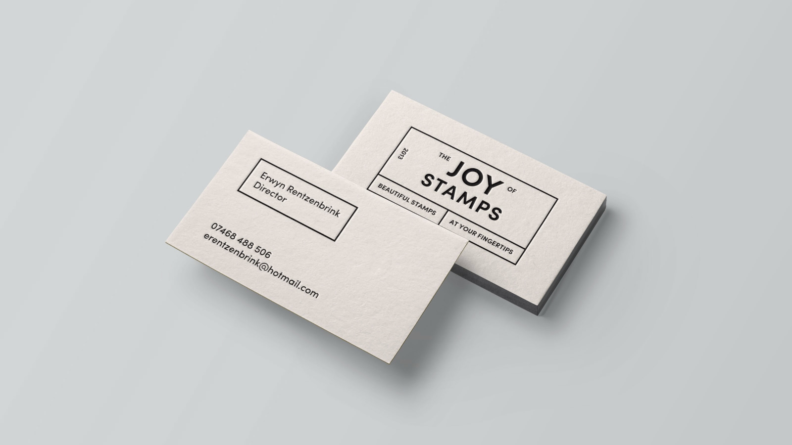 The Joy of Stamps Business Cards