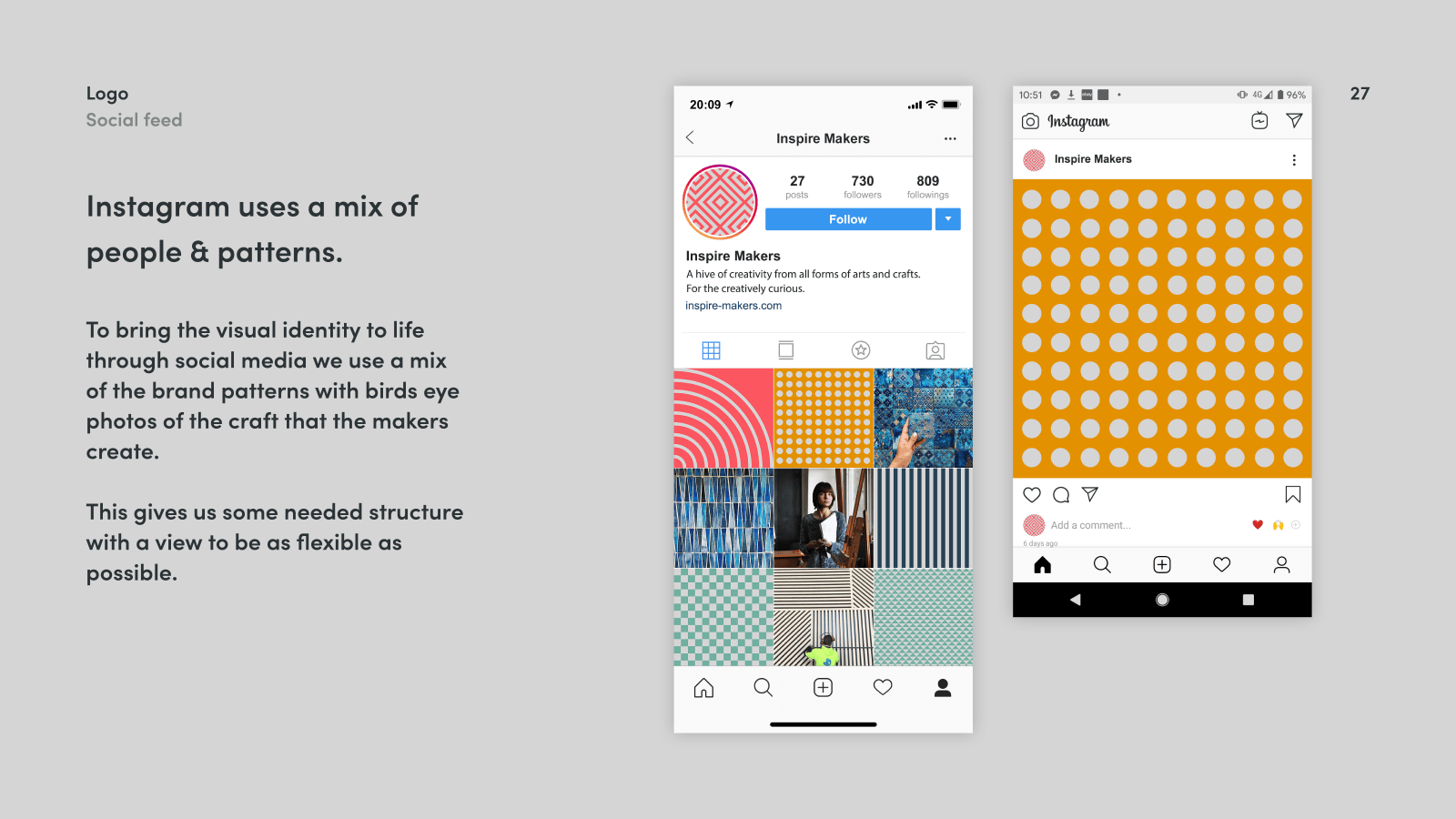 Inspire Makers Brand guidelines - insta