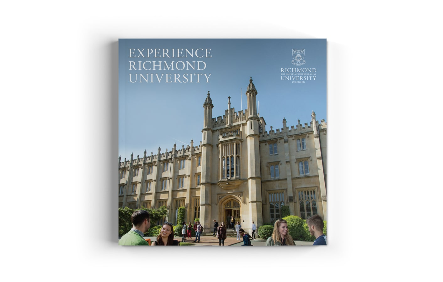 Richmond university prospectus cover on a white background