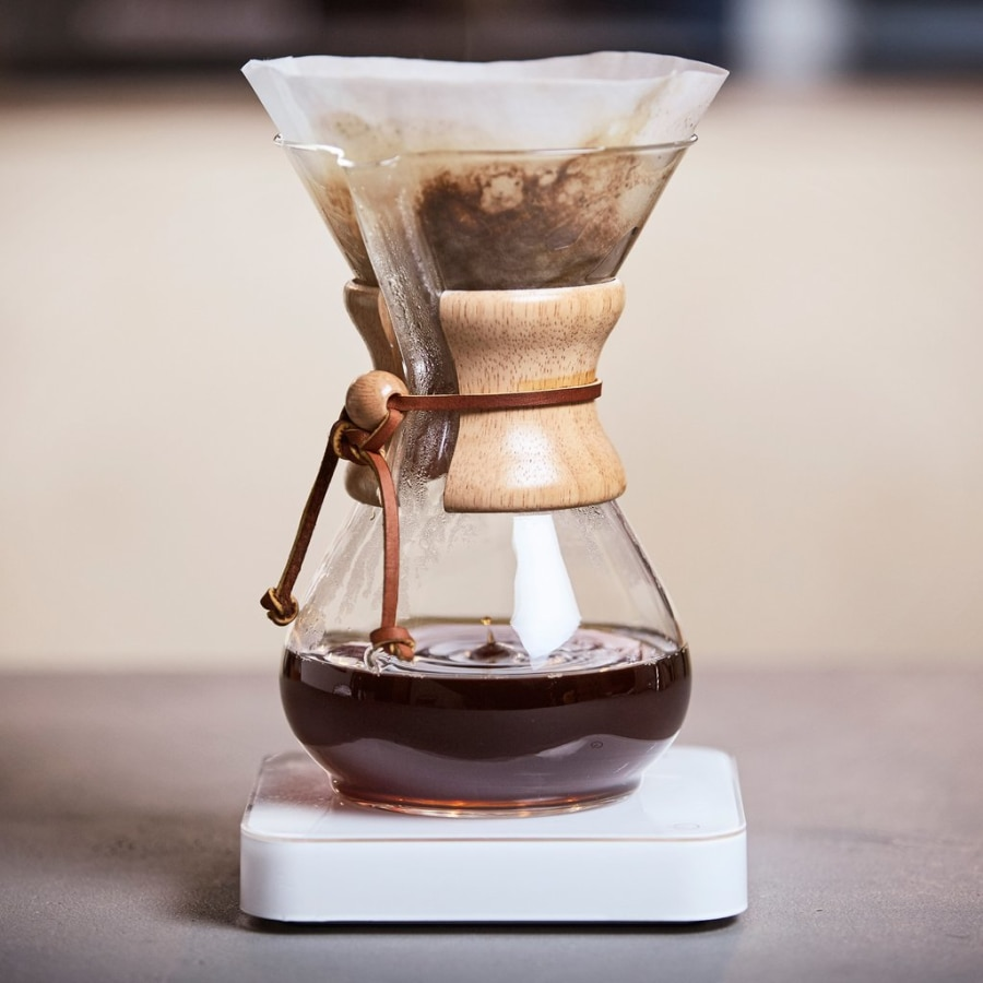 origin coffee cup filtering coffee