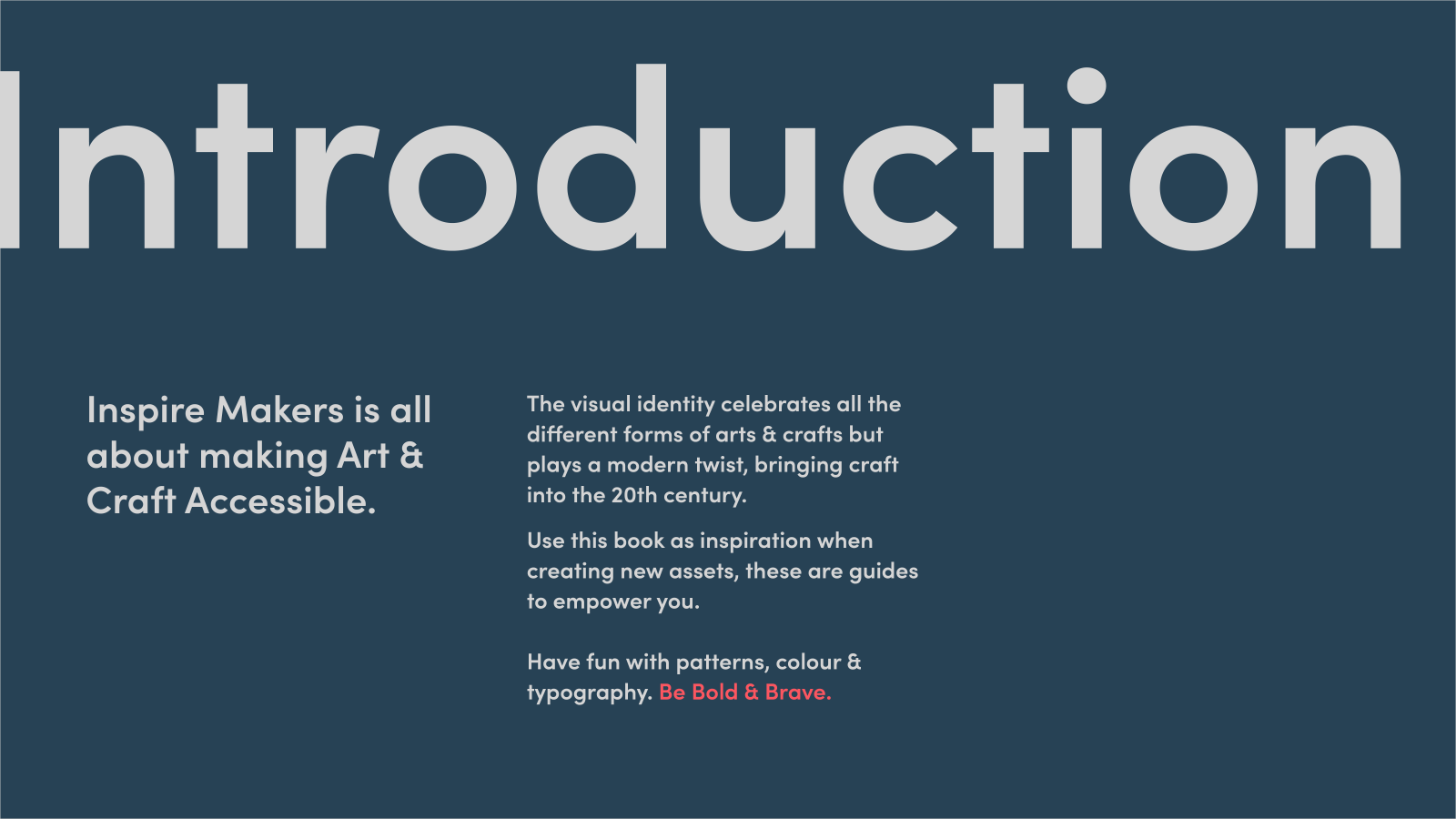 Inspire Makers Brand guidelines - introduction