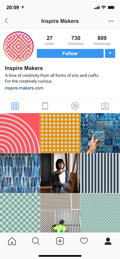 Inspire makers insta feed