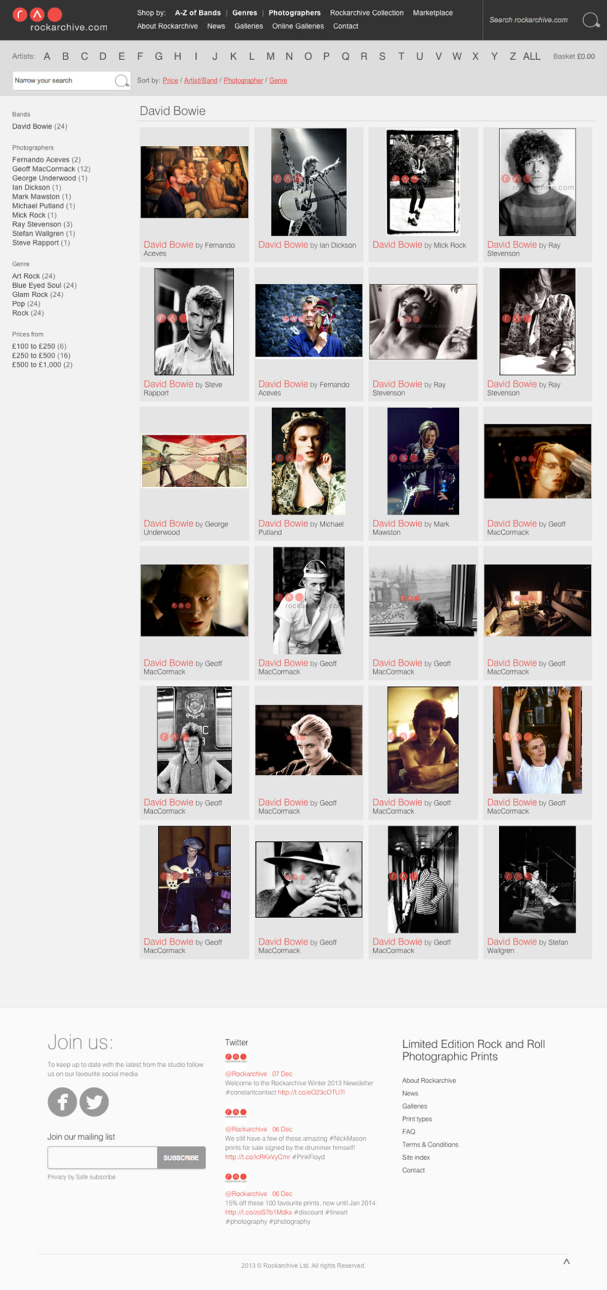 DAVID BOWIE LANDING PAGE