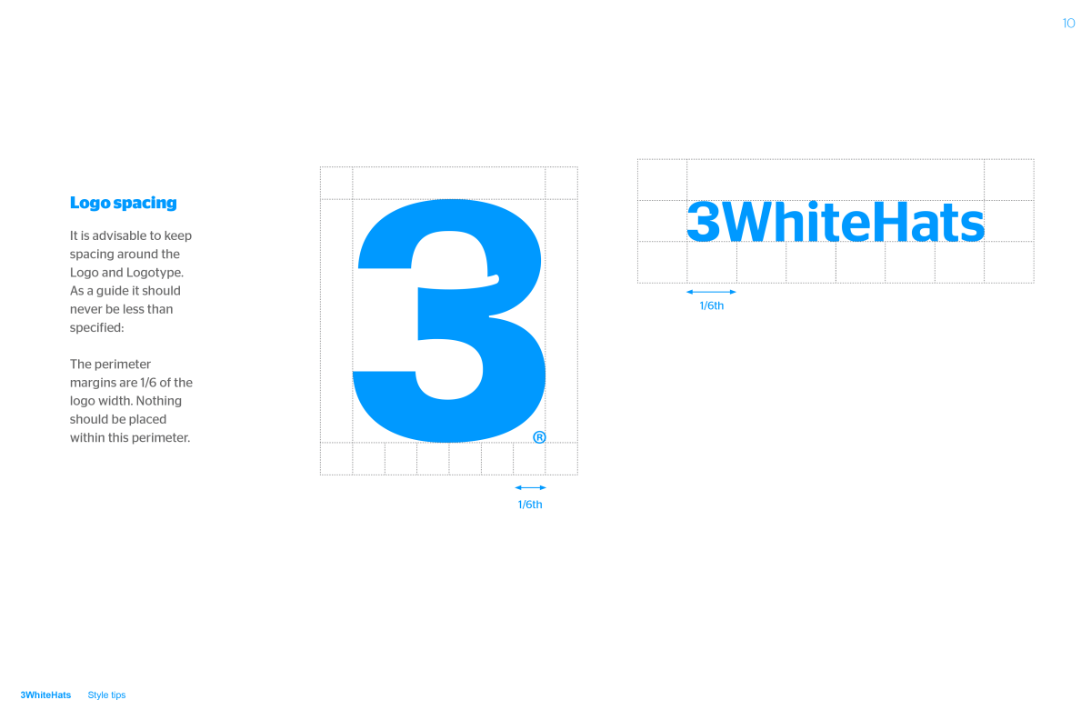 3 White Hats brand guideline image