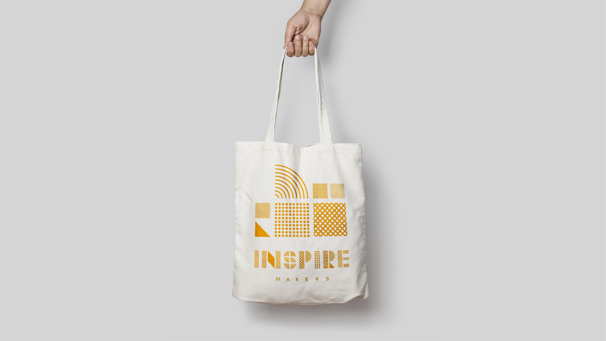 Inspire makers tote bag image