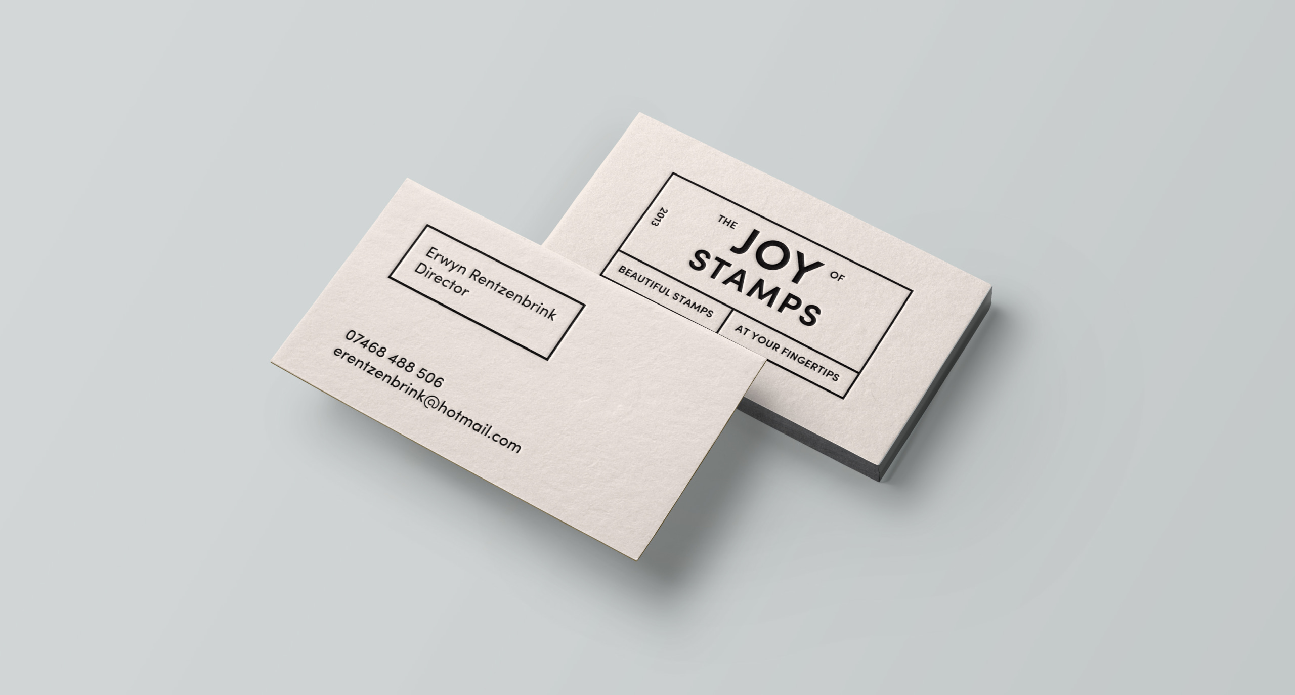 The Joy of Stamps buiness cards w