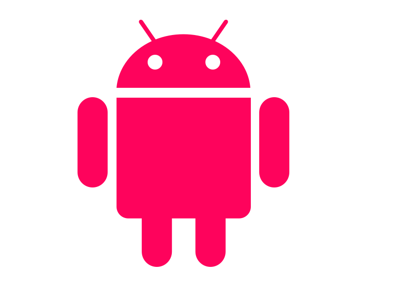 Android logo on white background