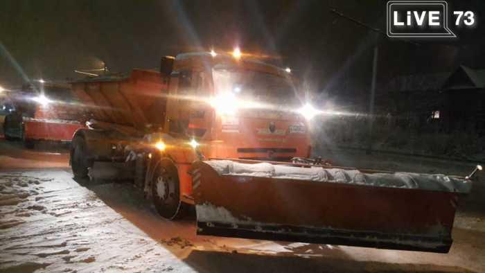 За ночь с улиц Ульяновска вывезли 85 КамАЗов снега
