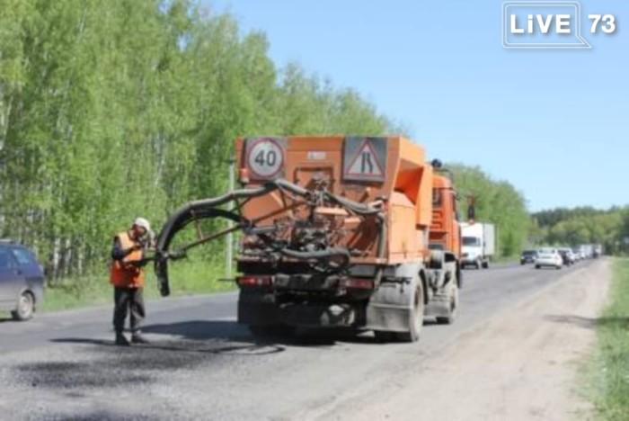 В Ульяновске начали ремонт дорог струйно-инъекционным методом