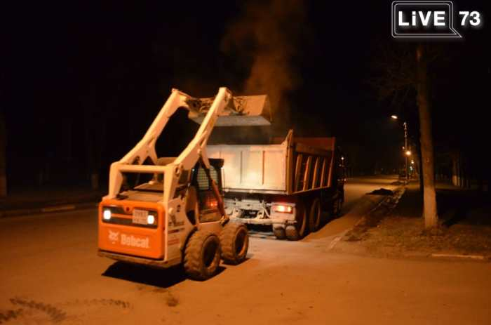 Ульяновские дороги ремонтируют и ночью
