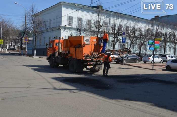 Новости ситуационного штаба Ульяновска: за день отремонтировали 1200 квадратных метров дорог