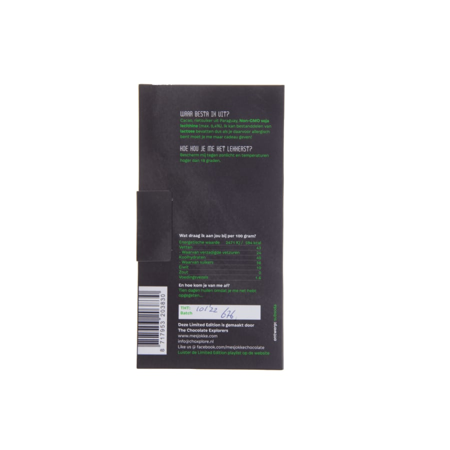 verpakking Mesjokke Limited Edition 80 gram