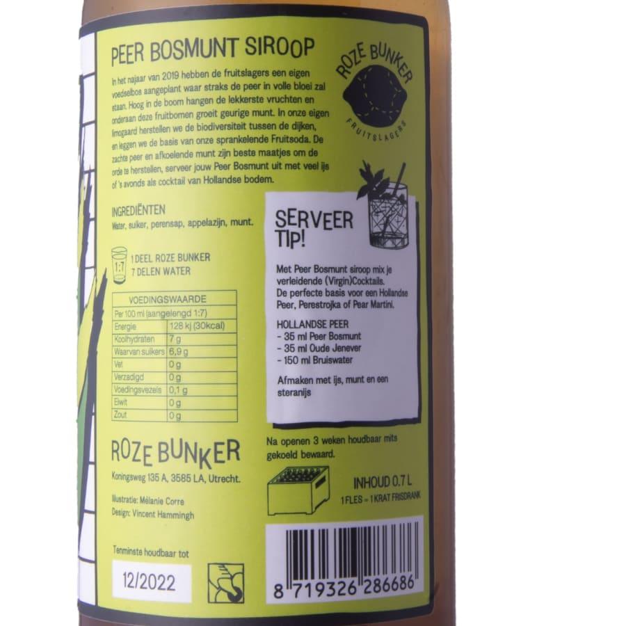 verpakking (Bio)logische limonade siroop - Peer Bosmunt