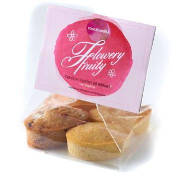 rose&vanilla - Flowery fruity cakejes / Glutenvrij & lactosevrij