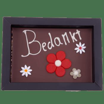 Van Tessel ijs en chocolade - Bedankt chocolade plak