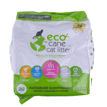 Woef & Thijs Dierenwinkel - Ecocane kattenbakvulling klontvormend