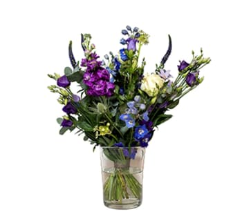 Bloemen aan de Vecht - Blauw paars veld boeket