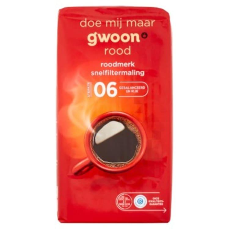 Versgrossier van Oosterom - G'woon koffie roodmerk snelfilter