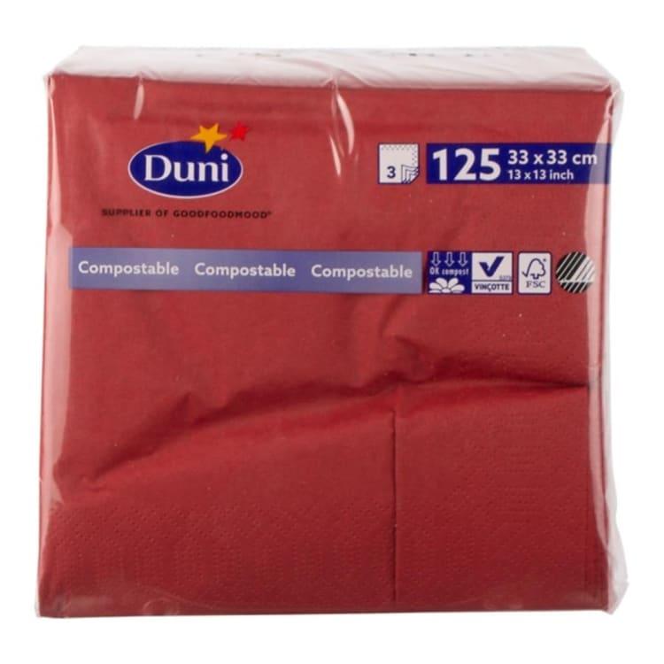Versgrossier van Oosterom - Duni dunilin servet bordeaux (40x40)