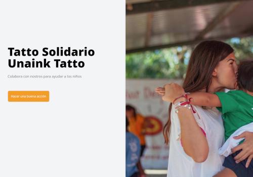 Landing Tatto solidario