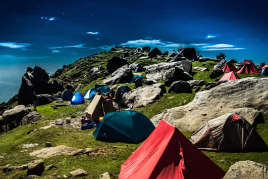 Camping in Triund