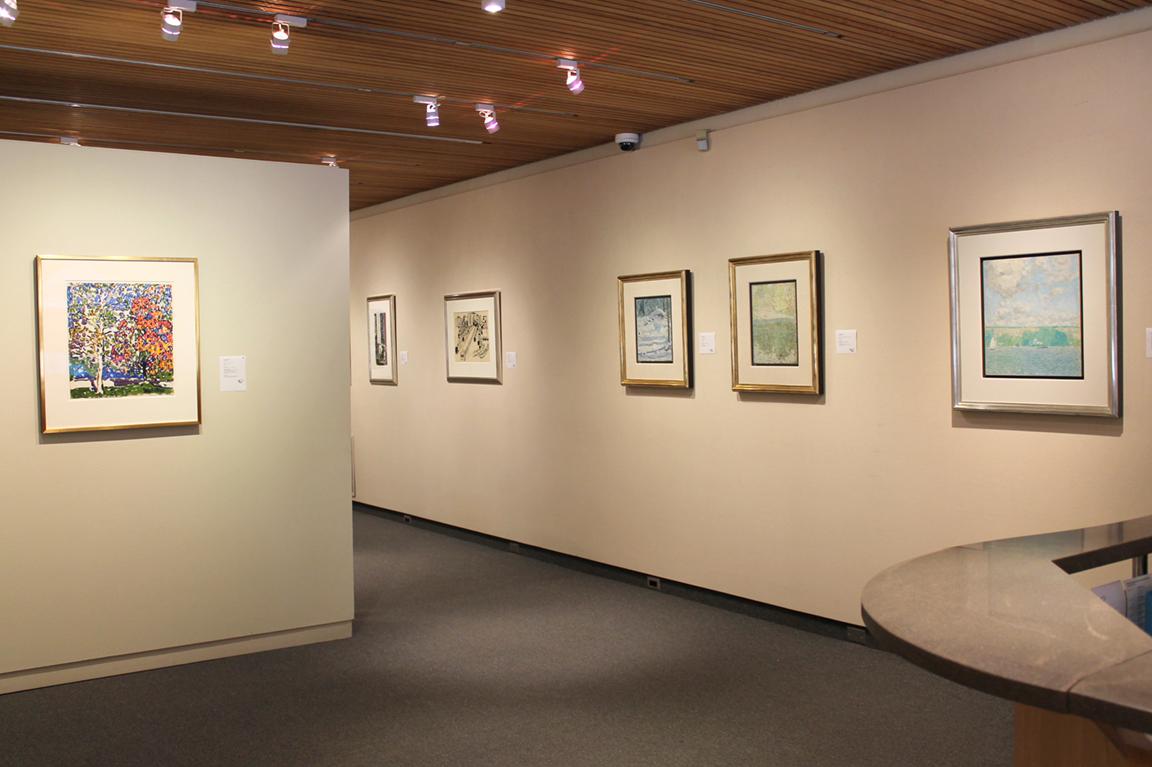Installation of the exhibition <i>New York</i> from the Estate of David Milne, 2016.  Mira Godard Gallery exclusively represents the Estate of David Milne