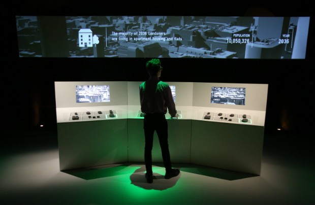 The situation room at Big Bang Data exhibition 03 Dec 2015 — 20 Mar 2016 © Somerset House