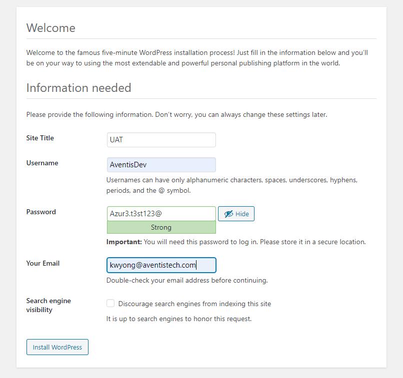 Install WordPress With LEMP On Debian
