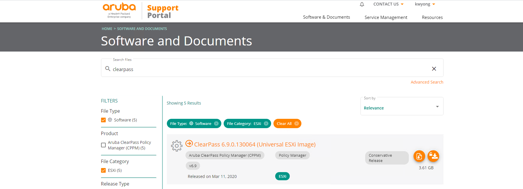 Setup Aruba ClearPass VM Appliance