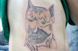 Creme der fjerner tatoveringer... Virker det og hvordan? hunde-tattoo-300x198