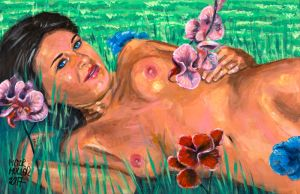 NATALIA NAKED AMONG THE ORCHID by Pictor Mulier