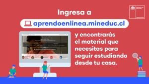 """Aprendizaje remoto a través de la  plataforma """"aprendoenlinea.mineduc.cl"""""""
