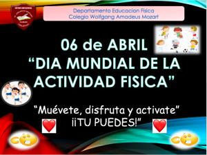 """Invitación""""Día Mundial de la Actividad Física"""""""