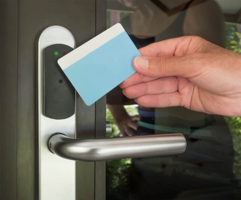 How to prevent credit card door entry?