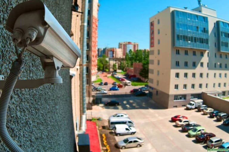 What are the benefits of surveillance cameras at public places?