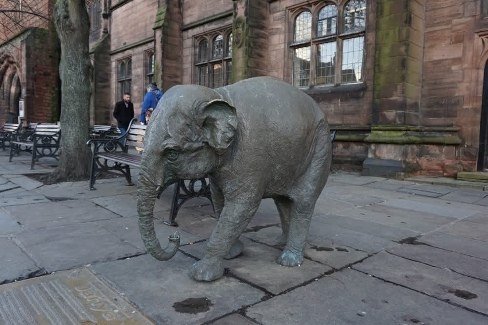 Chester's bronze elephant statue