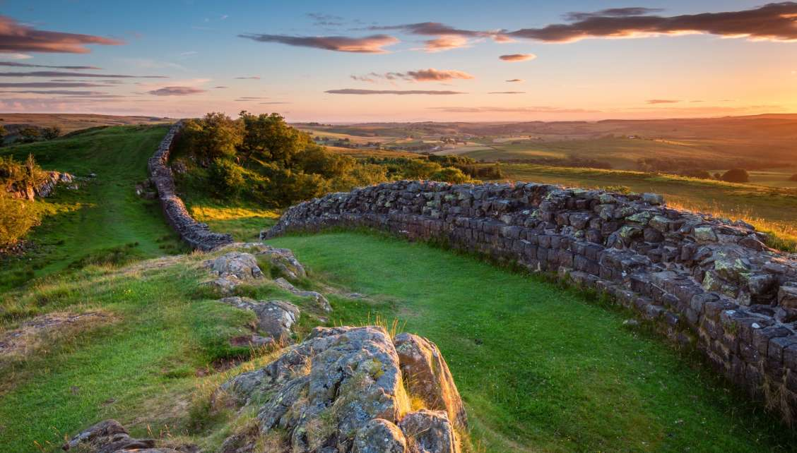 Hadrian's Wall not far from Newcastle Upon Tyne