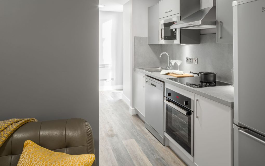 Grande Studio Student Apartment in Chester with Fully Fitted Kitchen. IconInc, The Ascent