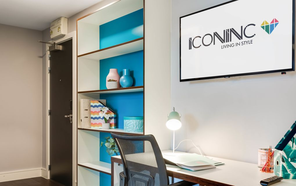 Grande Student Apartment in Leeds with Desk and Flat Screen TV, IconInc, The Edge
