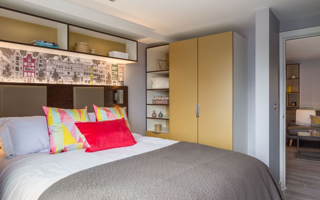Grande Student Apartment in Leeds with Separate Living Area at IconInc, The Glassworks