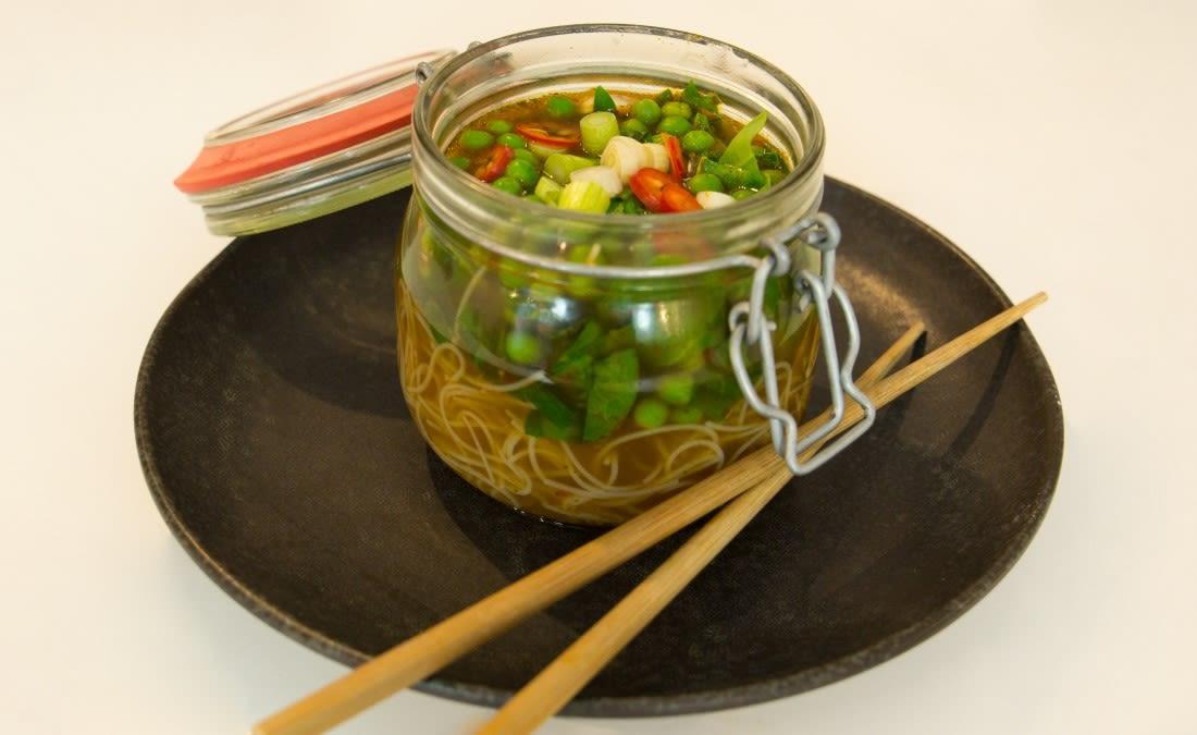 Posh pot noodle recipe by Chris Hale, exclusively for IconInc.