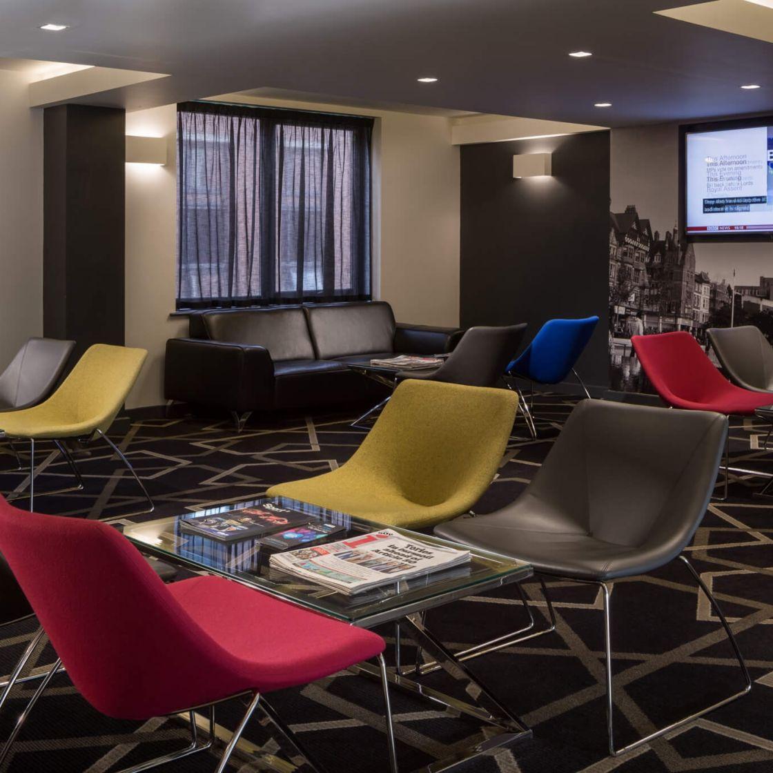 IconInc @ Roomzzz Reception Lounge.  Student Accommodation in Nottingham