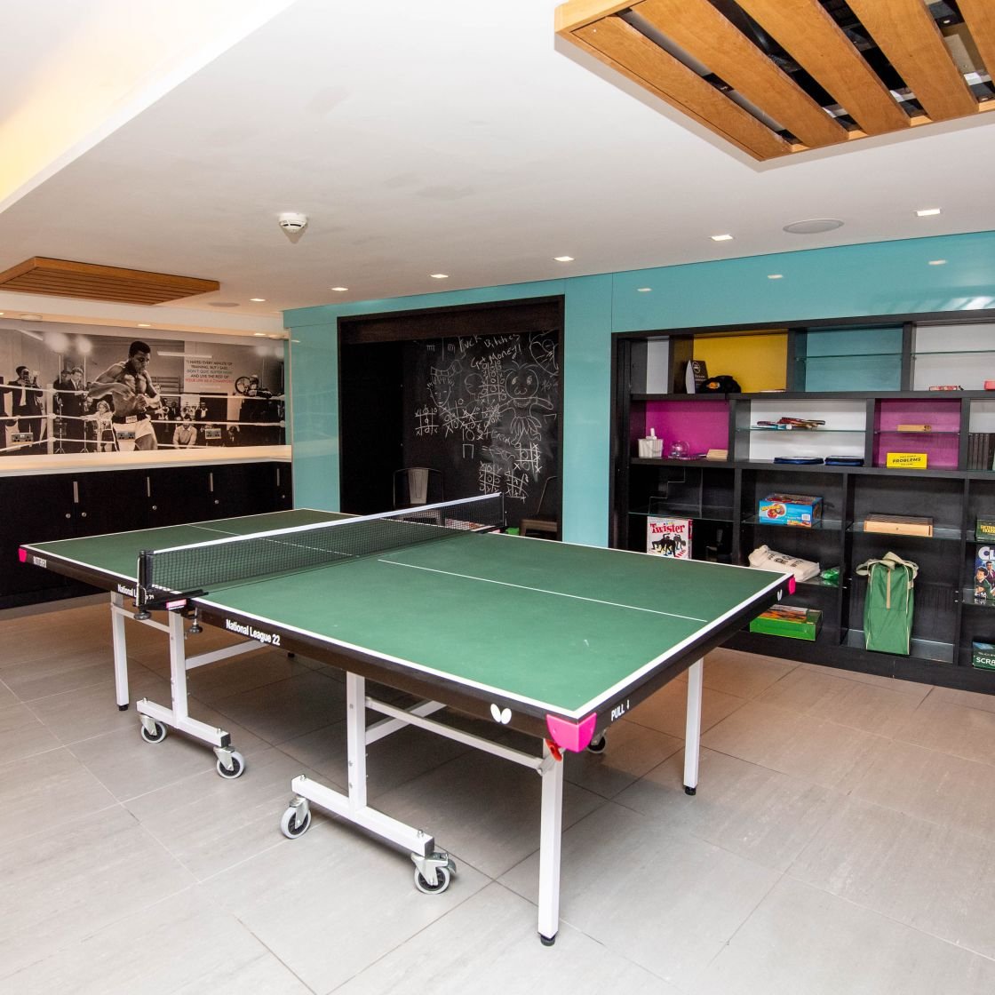 Games area with table tennis. IconInc, The Edge. Student Accommodation in Leeds