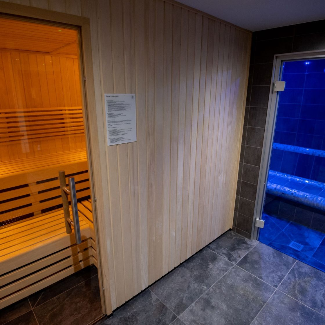 Sauna and Steam Room at IconInc, The Edge. Student Accommodation in Leeds